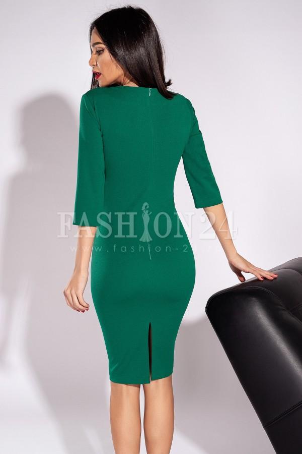 Rochie Andra in doua culori verde si negru