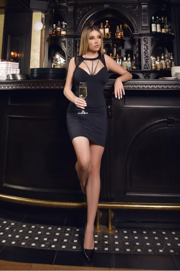 Rochie de seara Marta neagra