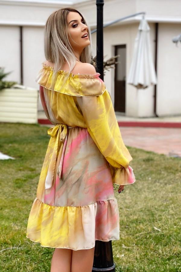 Rochie Renata multicolora in clos