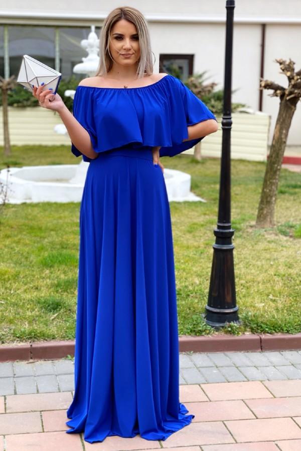 Rochie versatila de ocazie in nuante de albastru