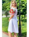 Rochie alba cu imprimeuri florale Seleny
