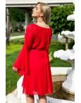 Rochie traditionala eleganta Sofia rosie