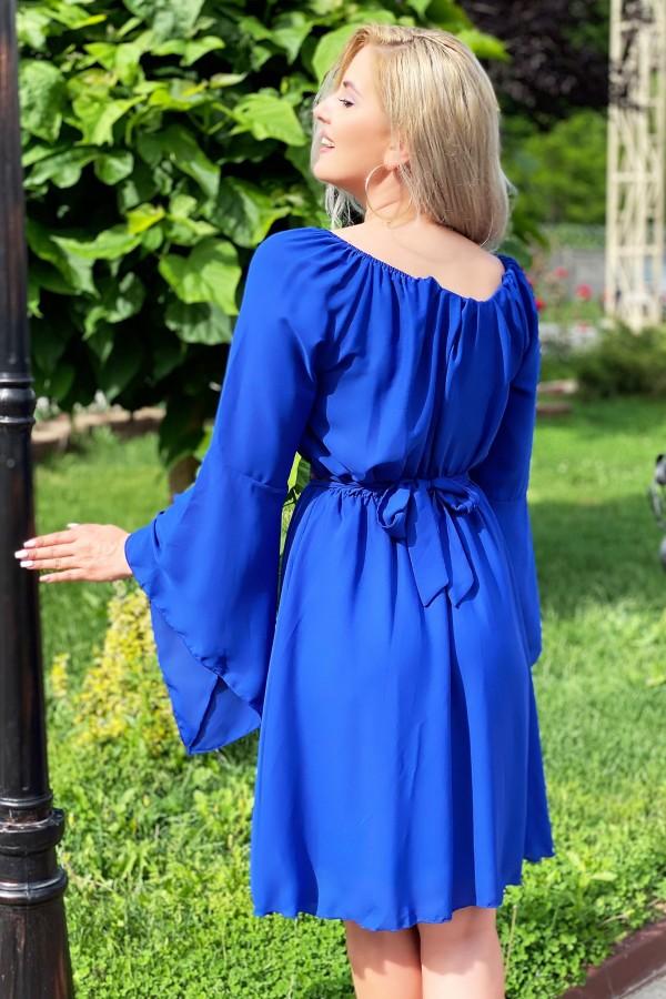 Rochie traditionala eleganta Sofia albastra