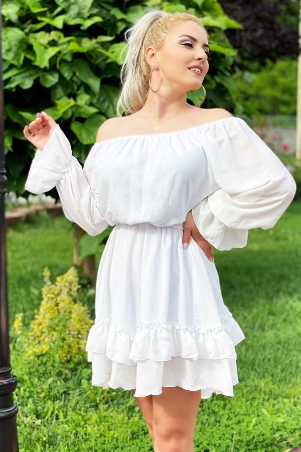 Rochie Olivia albastra in clos