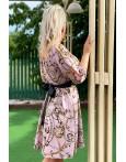 Rochie Dalinda cu imprimeuri multicolore