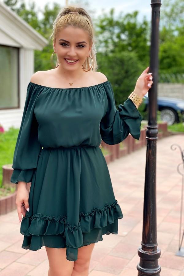 Rochie Olivia verde in clos
