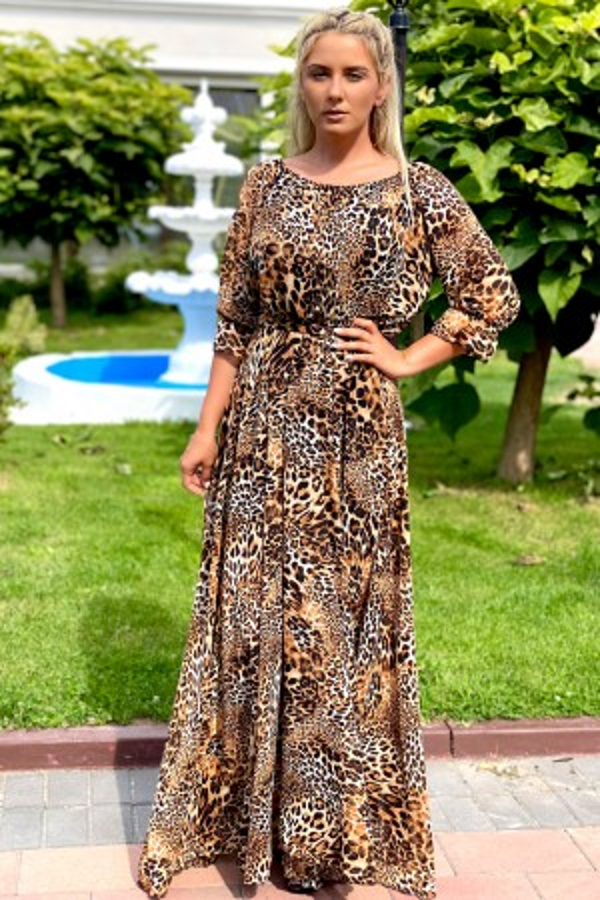 Rochie lunga Shakira in stil leopard