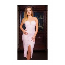 Rochie Strapless Pink thumbnail