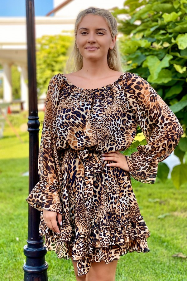Rochie Olivia animal print in clos
