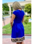 Rochie traditionala albastra in clos