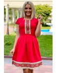 Rochie traditionala rosie in clos