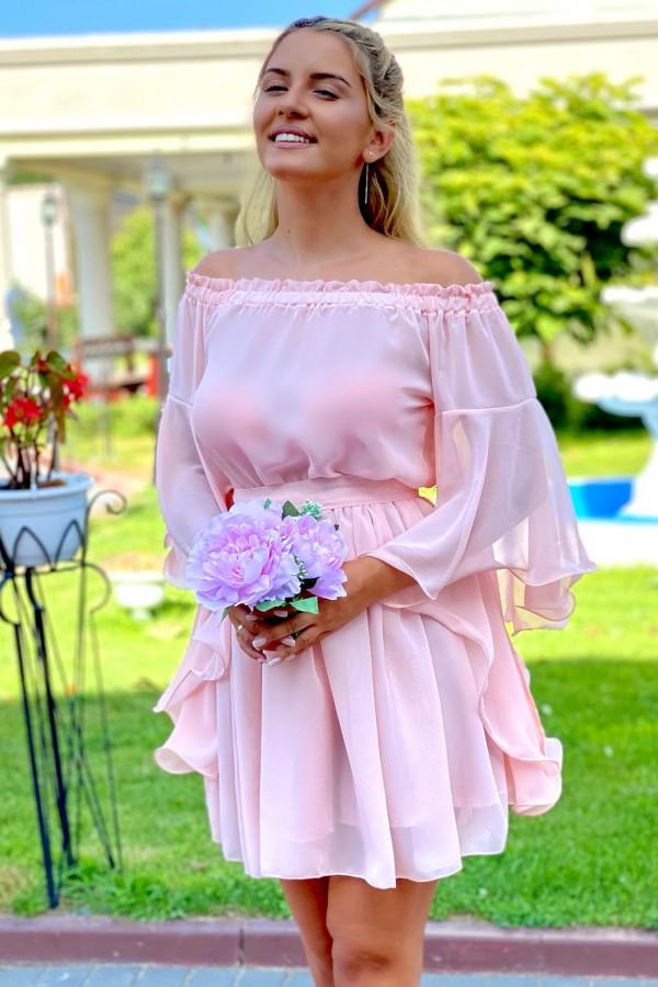 Rochie Sara in nuante de rose