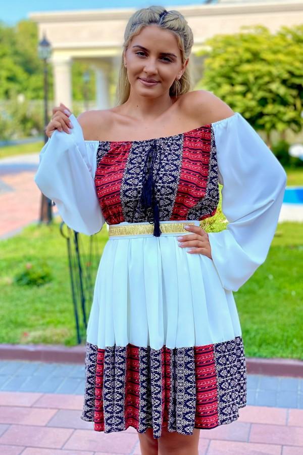 Rochie Sara in nuante multicolore