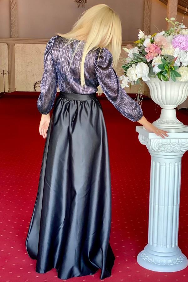 Rochie neagra eleganta lunga Deea