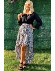 Rochie Fiona asimetrica leopard