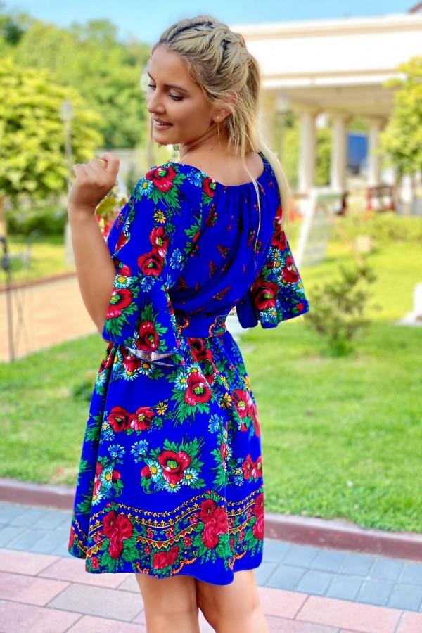 Rochie Maria albastra traditionala in clos