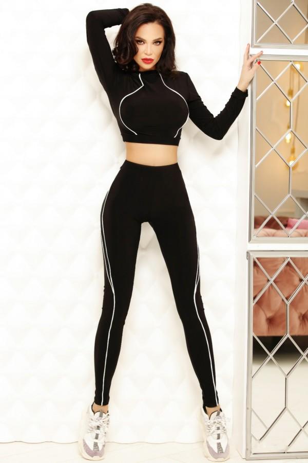 Compleu Sasha negru elegant