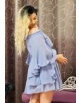 Rochie Sara in nuante de bleu