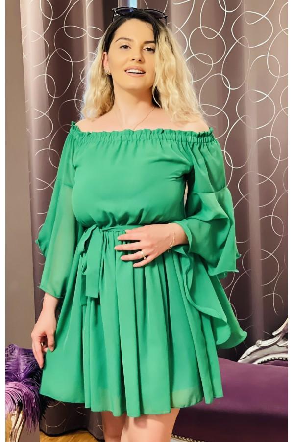 Rochie Sara in nuante de verde