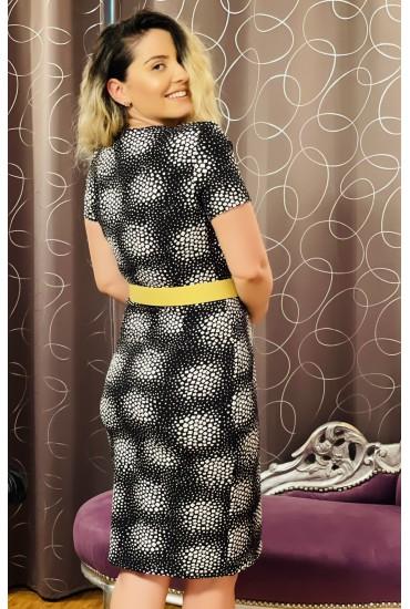 Rochie Marissa negru cu alb petrecuta