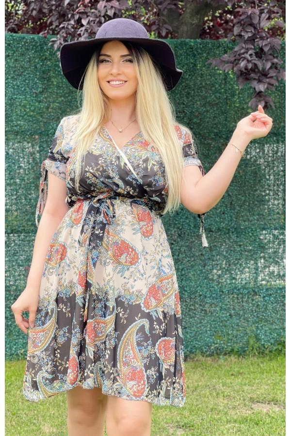 Rochie Thalia in clos multicolora