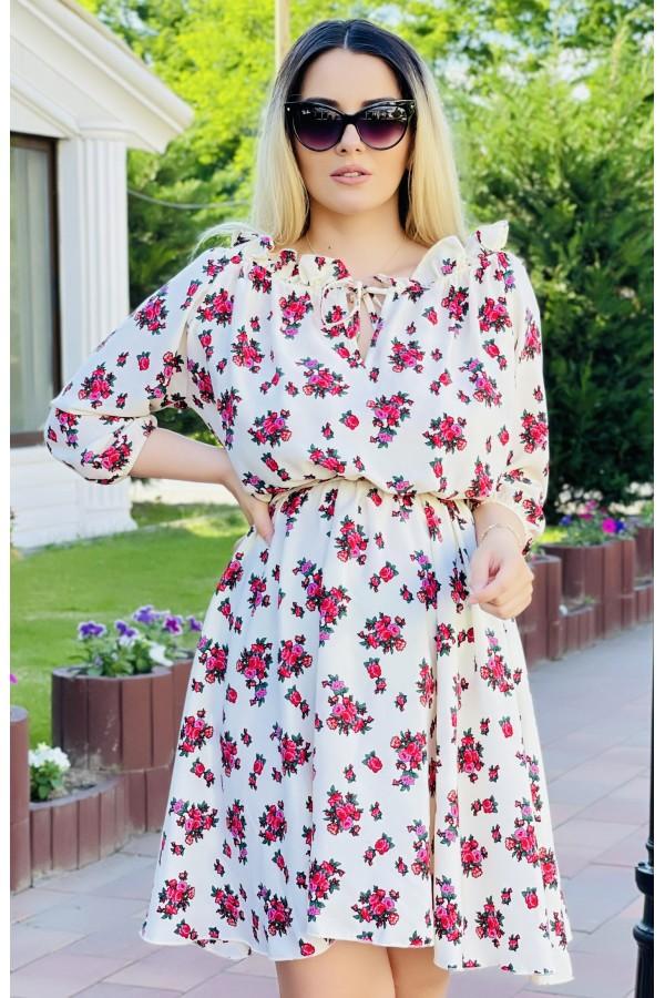 Rochie Sara multicolora eleganta