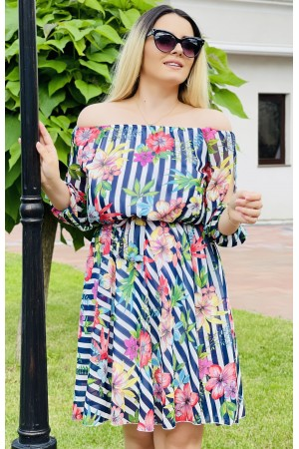 Rochie multicolora in dungi Larisa