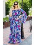 Rochie lunga cu imprimeuri Sara eleganta