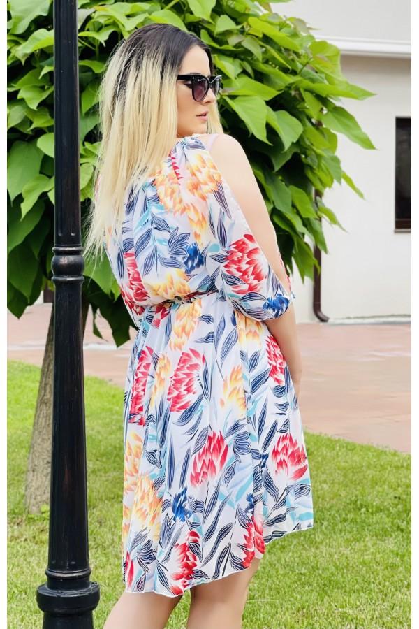 Rochie multicolora cu flori Larisa