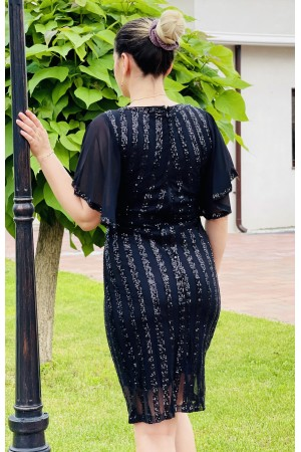 Rochie de seara cu paiete Vanda neagra