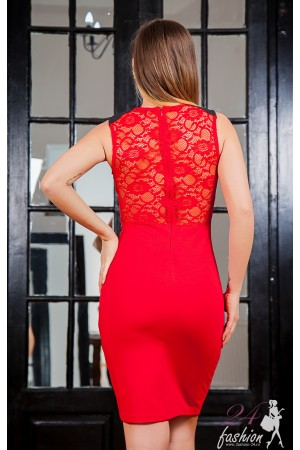Rochie  Beads Red