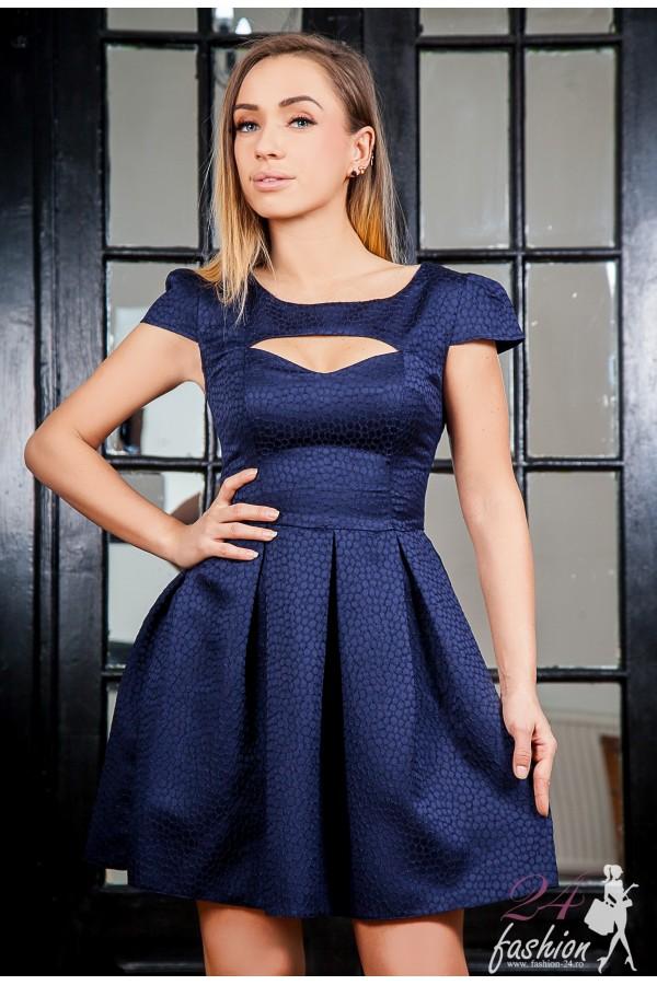 Rochie Dark Blue  Cut