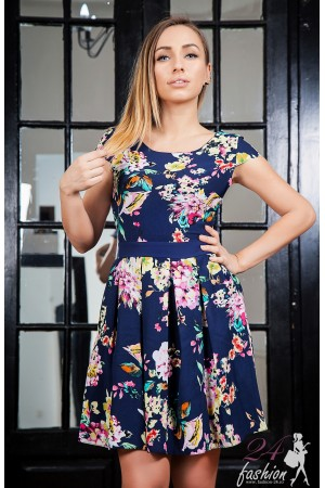 Rochie Baby Doll Dark Blue Model