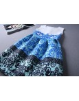 Rochie Eleganta Blue Print