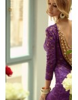 Rochie De Seara Velvet Purple