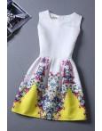 Rochie Eleganta Yellow Print