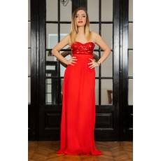 Rochie Long Attraction Red thumbnail