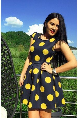 Rochie Eleganta Big Bubbles Yellow