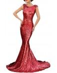 Rochie De Ocazie Red Sequin