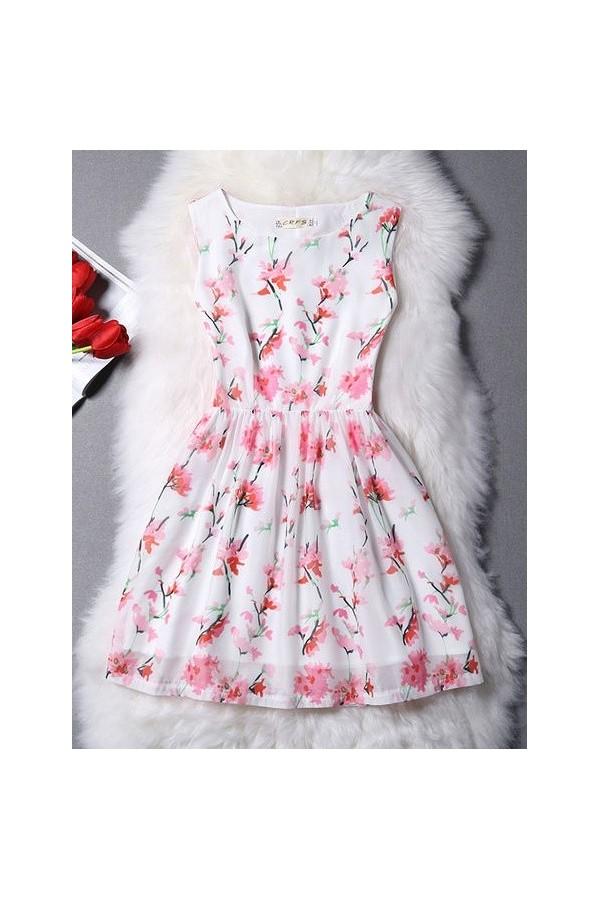 Rochie Eleganta New Pink Flowers