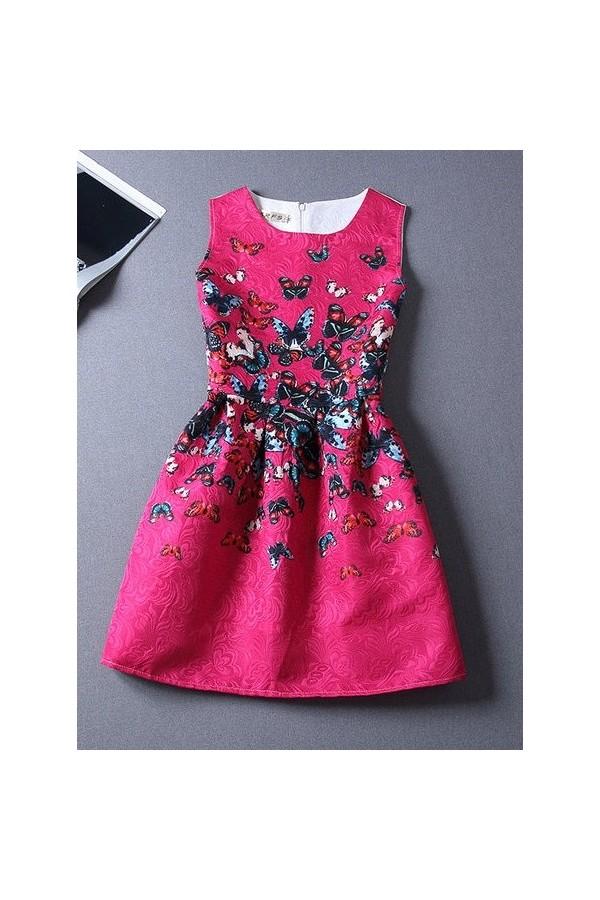 Rochie Eleganta Numerous Butterflies Pink