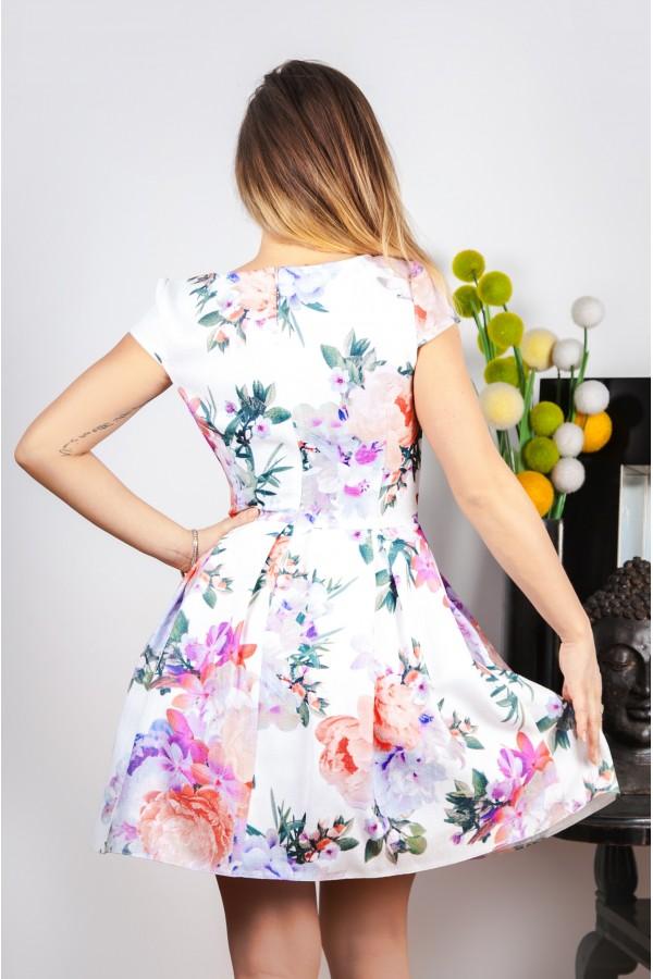 Rochie Din In White Flax Fashion-24