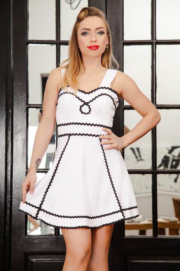 Rochie Eleganta White Streaks