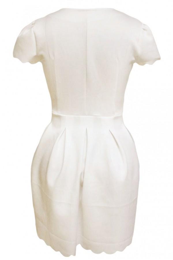 Rochie Eleganta Sweet Scallop White
