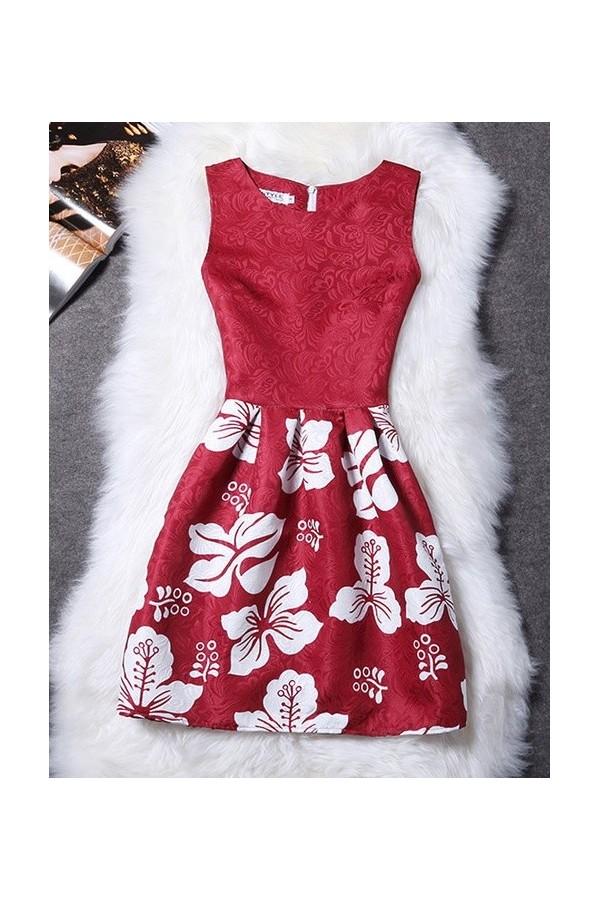 Rochie Eleganta Red Prints