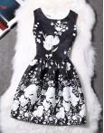 Rochie Eleganta Vintage Print