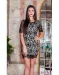 Rochie Eleganta Black Embroidered Lace