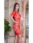 Rochie Eleganta Red Embroidered Lace