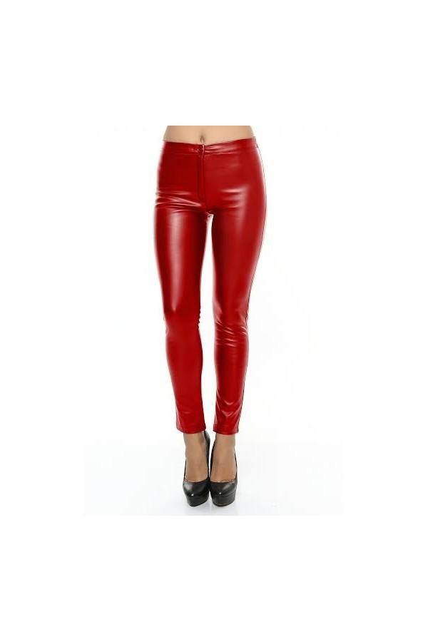 Pantaloni Piele Eco Red Addiction
