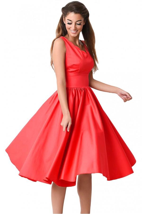 Rochie Eleganta Vintage Red